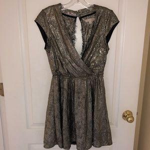 Shiny Silver Holiday Dress
